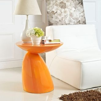 "John Steed Fiberglass Side Table-Orange-23"""