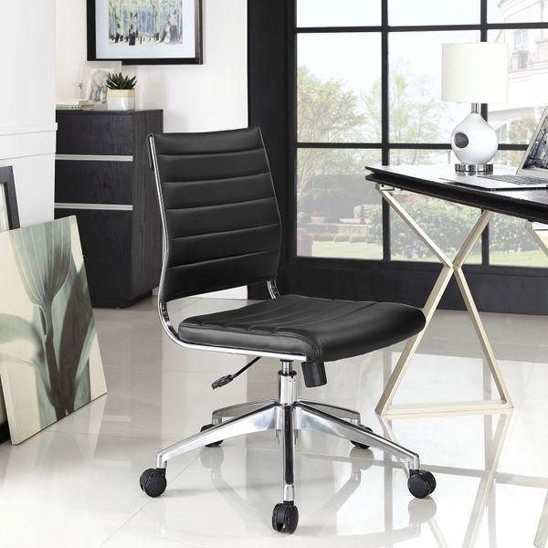 Armless Midback Office Chair - Black