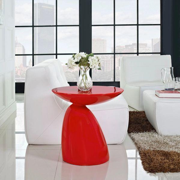 "John Steed Fiberglass Side Table-Red-23"""