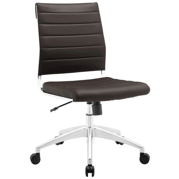 Armless Midback Office Chair - Brown