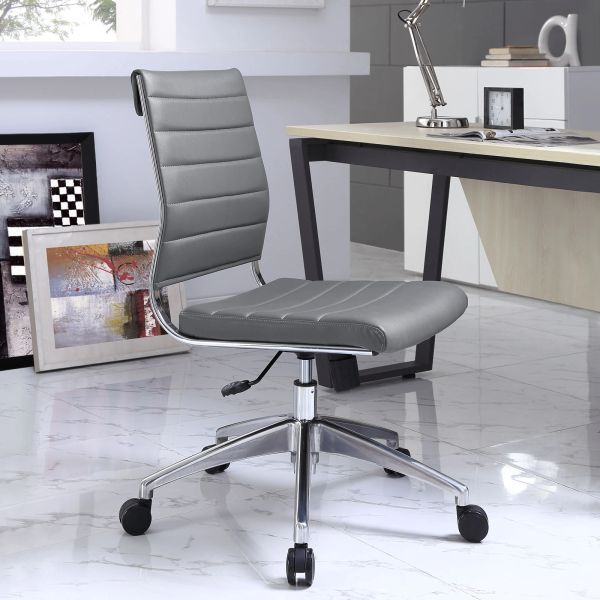 Armless Midback Office Chair - Gray