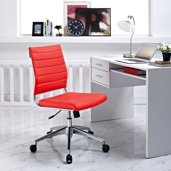 Armless Midback Office Chair - Red