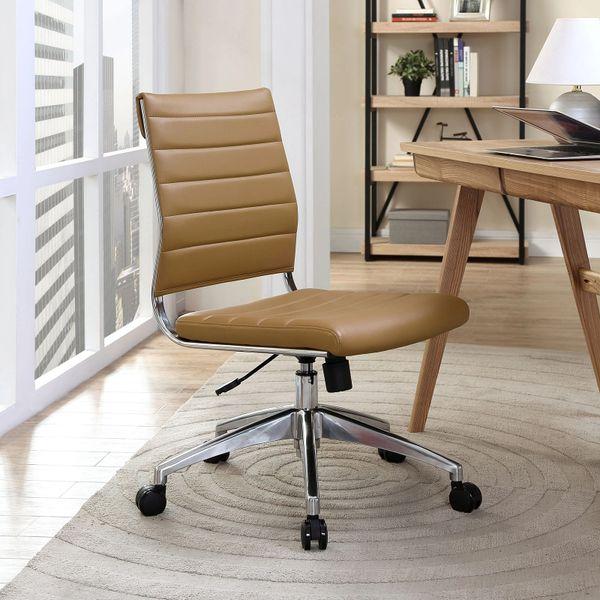 Armless Midback Office Chair - Tan
