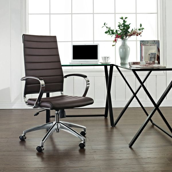 High Back Office Chair - Brown