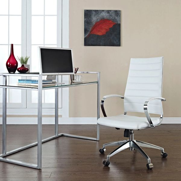 High Back Office Chair - White