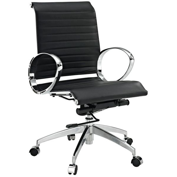 Mid Back Office Chair Version 2 - Black