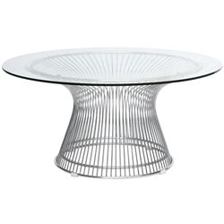 Jan Round Wire and Glass Coffee Table