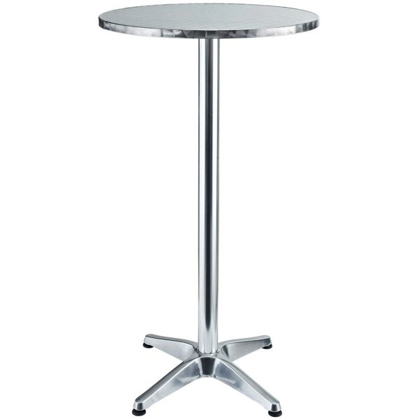 """Campbell Aluminum Round Bar Table-24"""""""