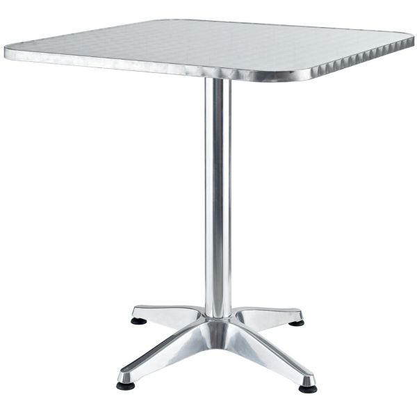 """Campbell Aluminum Square Table-28"""""""