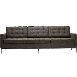 Florence Knoll Style Wool Sofa-Oatmeal