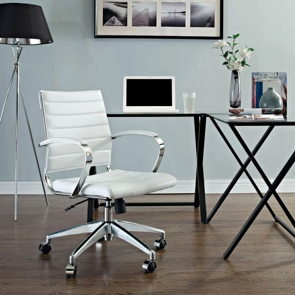 MidBack Office Chair - White