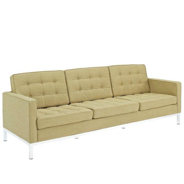 Florence Knoll Style Wool Sofa-Mushroom