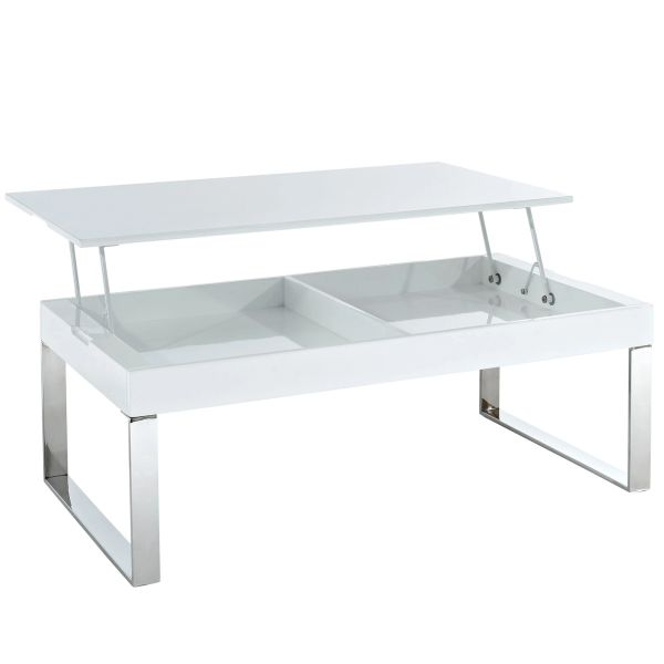 Rachel Convertible Coffee Table-White