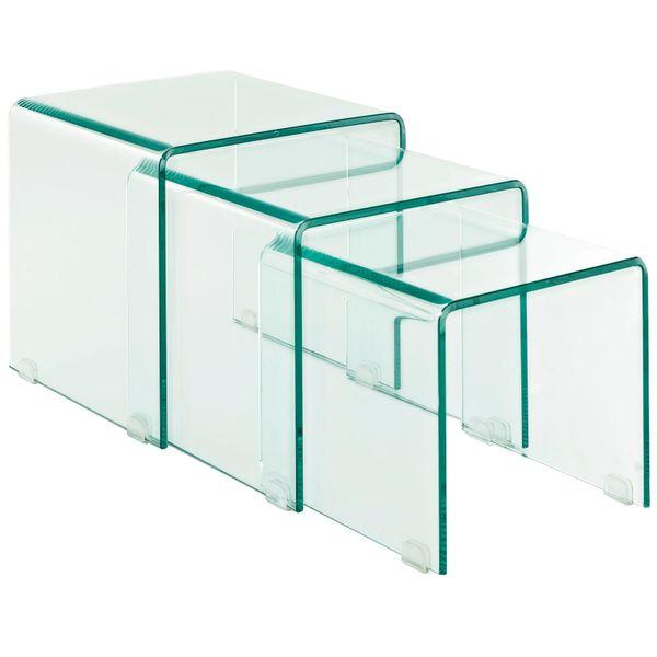 Rachel Glass Nesting Side Table