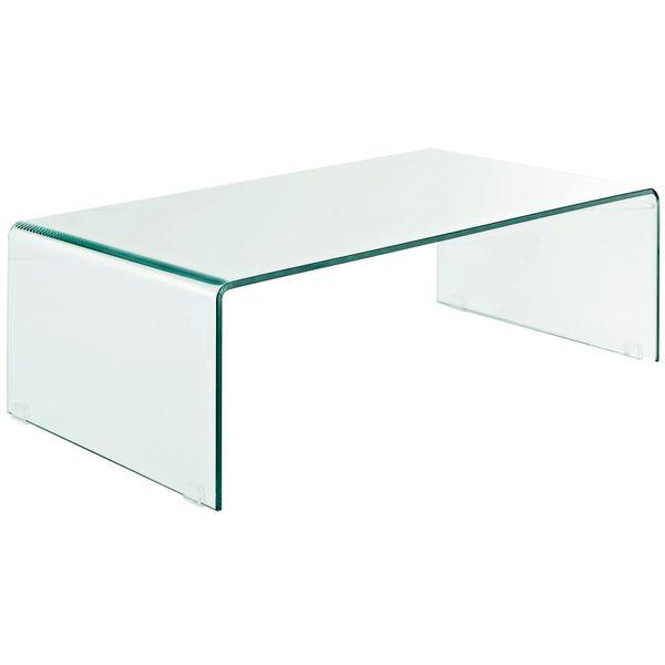 Rachel Rectangular Glass Coffee Table