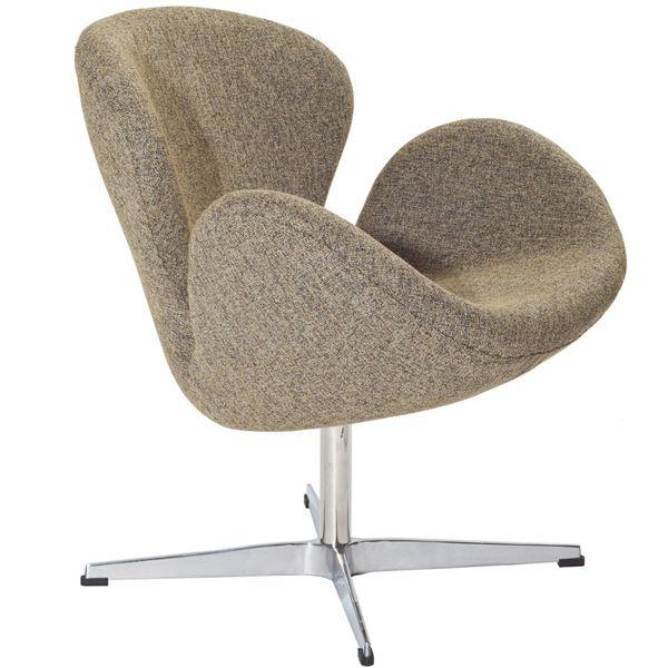 Arne Jacobsen Style Swan Chair - Oatmeal