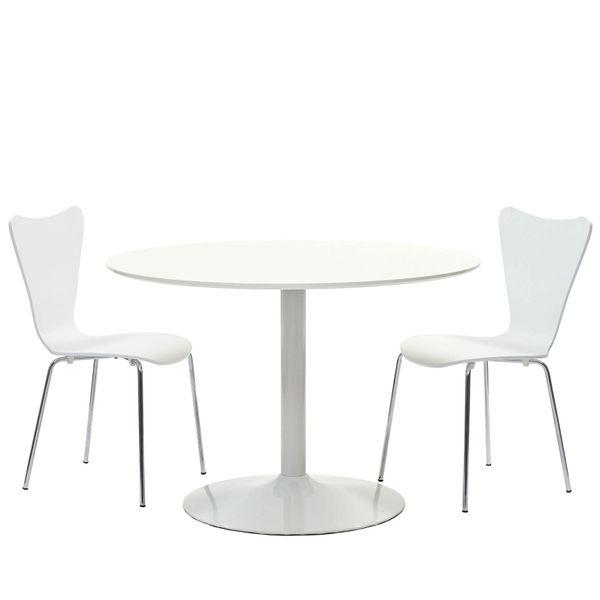 Miller Three piece Dining Set-White