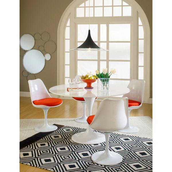 Saarinen Style Fiberglass Dining Set-Set Of Five Pieces