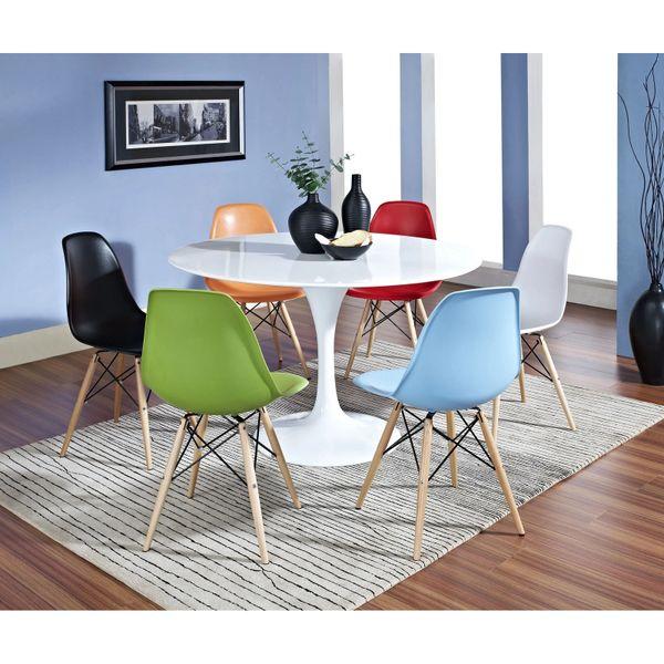 Saarinen Style Fiberglass Seven Piece Dining Set
