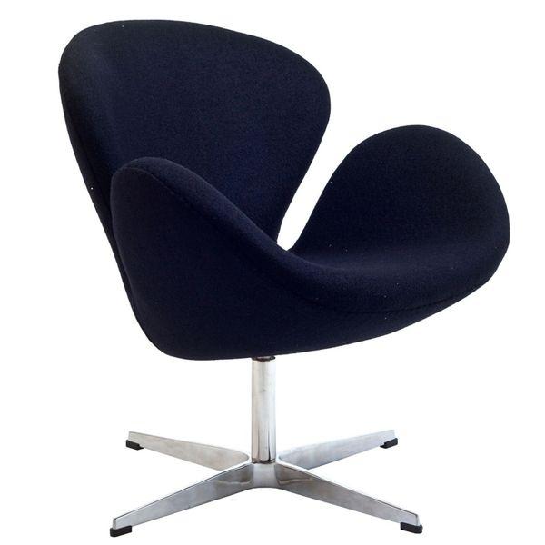 Arne Jacobsen Style Swan Chair-Black