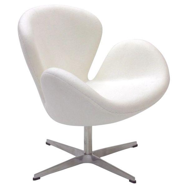 Arne Jacobsen Style Swan Chair - White