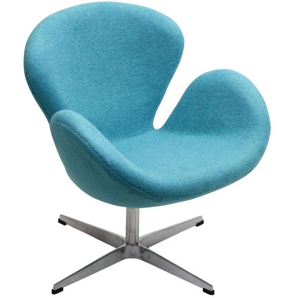 Arne Jacobsen Style Swan Chair - Baby Blue