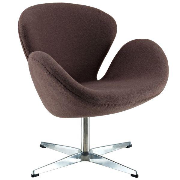 Arne Jacobsen Style Swan Chair - Dark Brown
