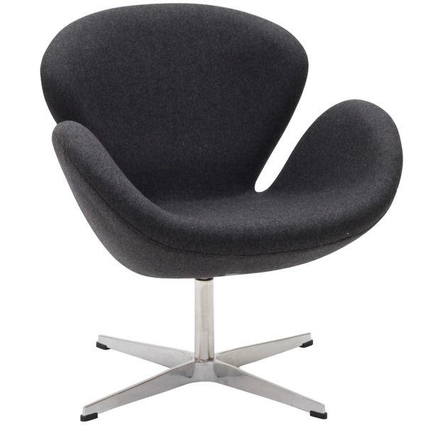 Arne Jacobsen Style Swan Chair - Dark Gray