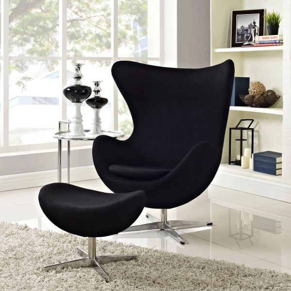 Arne Jacobsen Egg Chair.Arne Jacobsen Egg Chair Ottoman Black Take 1 Designs Mid