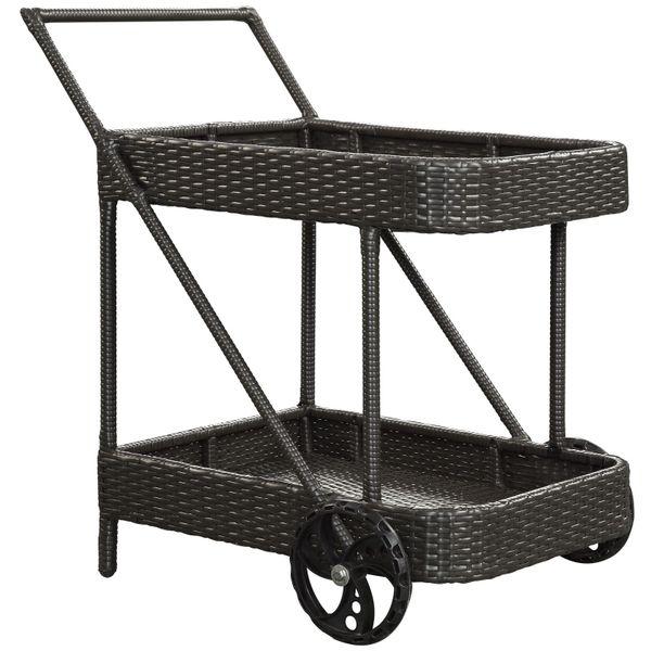 Magnum Outdoor Patio Beverage Cart, Black