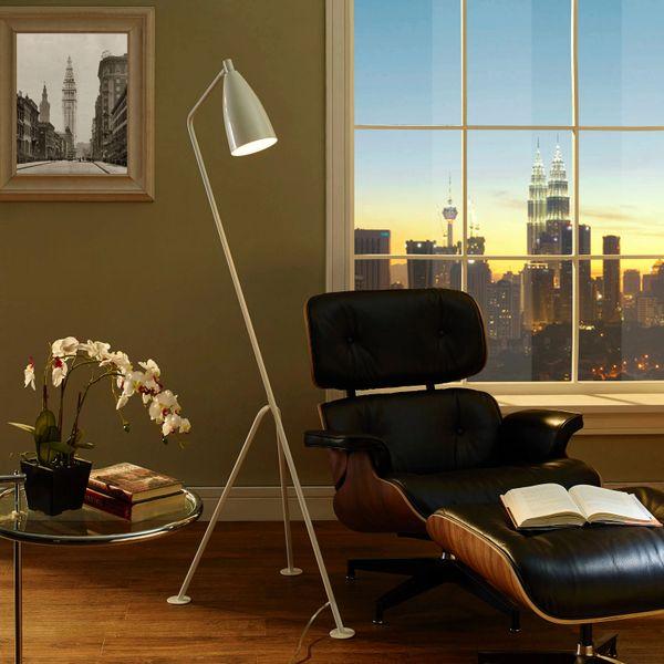 Crane Floor Lamp-White