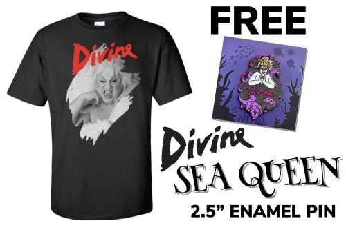 Divine Filthy Dreams T-Shirt + FREE Sea Queen Enamel Pin