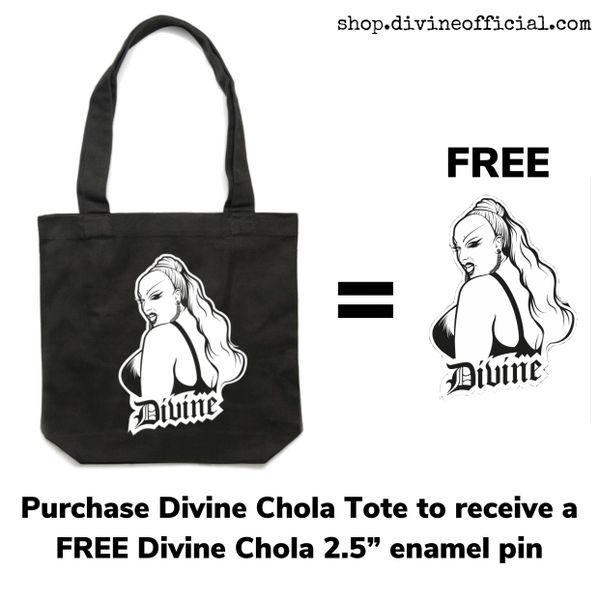Divine Chola Large Tote Bag + FREE Chola Enamel Pin