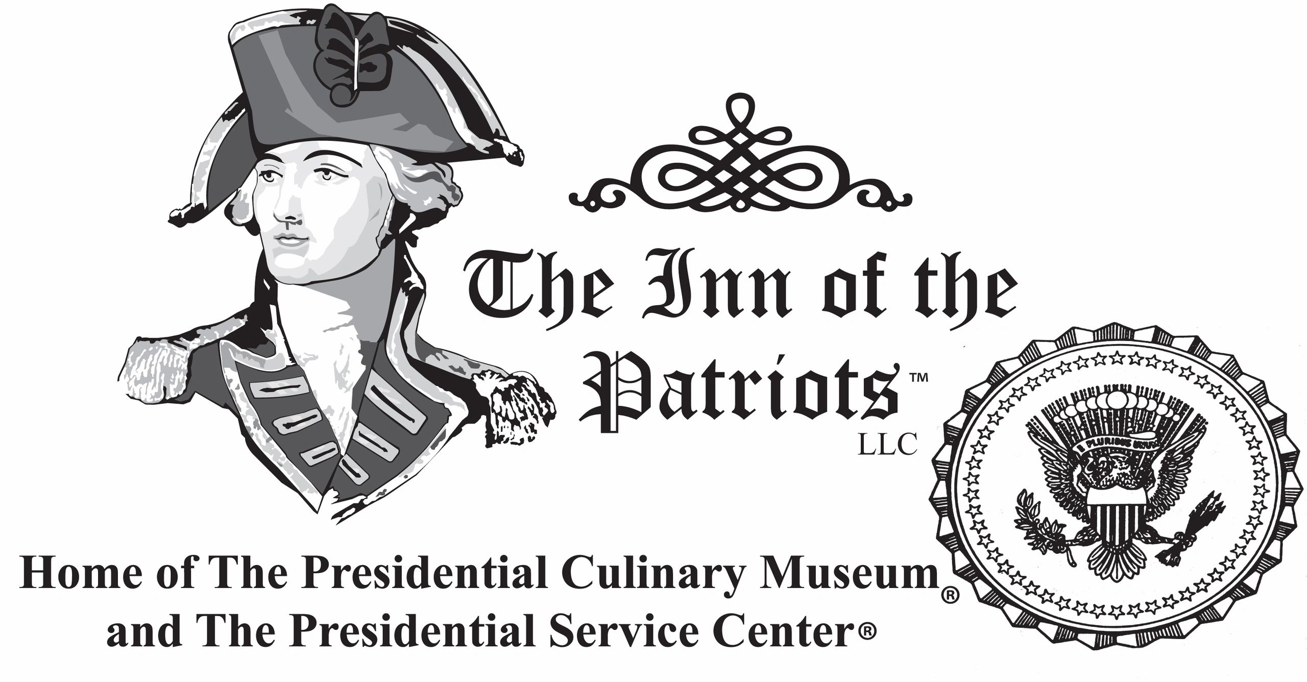 The Inn of the Patriots logo with US Presidential Culinary Museum and US Presidential Service Center