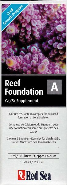 Red Sea Reef Foundation A, Ca/Sr 500ml