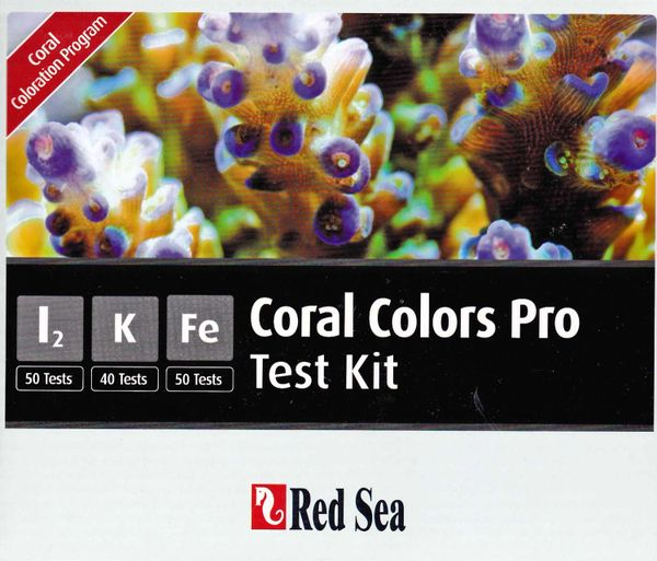 Red Sea Reef Colors Pro Test Kit, (l2, K, Fe)