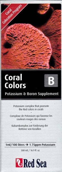 Red Sea Coral Colors B, Potassium & Boron Supplement, 500ml
