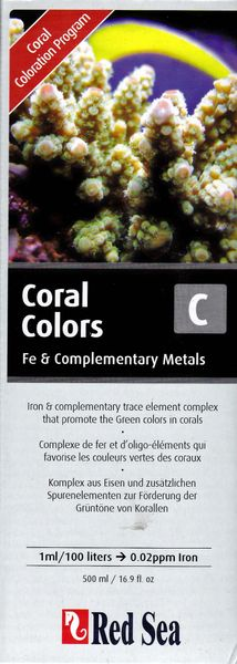 Red Sea Coral Colors C, Fe & Complementary Metals 500ml