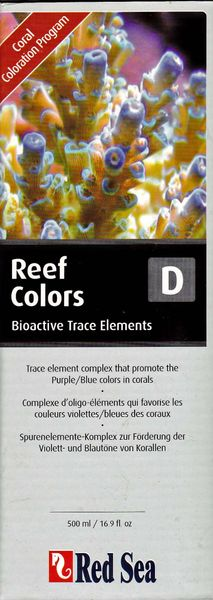 Red Sea Coral Colors D, Bioactive Trace Elements 500ml