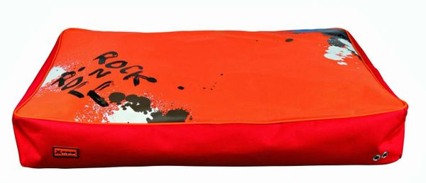 Trixie X-TRM Cushion, Dog Bed, 80x55cm, Red/Orange, Waterproof