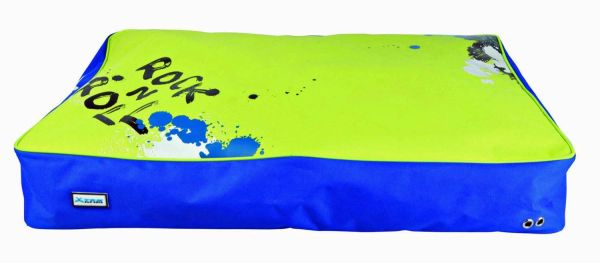 Trixie X-TRM Cushion, Dog Bed, 100x70cm, Blue/Green, Waterproof