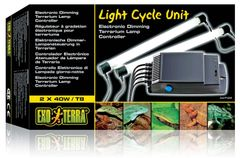 Exo Terra Light Cycle Unit 2x40w, Electronic Dimming Vivarium Lamp Controller, PT2245