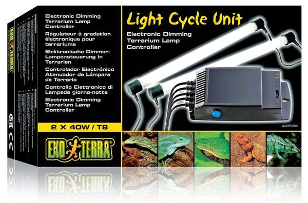 Exo Terra Light Cycle Unit 2x40w, Electronic Dimming Vivarium Lamp Controller, PT2245