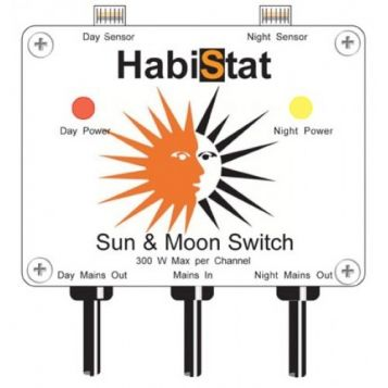 Habistat Sun & Moon Switch, Twin Switch for Daytime & Night time Heating