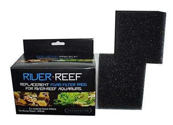 Interpet River Reef 50, RR94 94 Litre Aquarium Felt Pads and Carbon Pack 2123