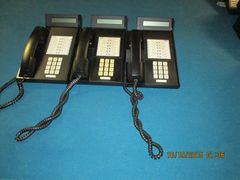 eOn Cortelco Millennium group of (3) 12 Button Phones with 2x24 Displays