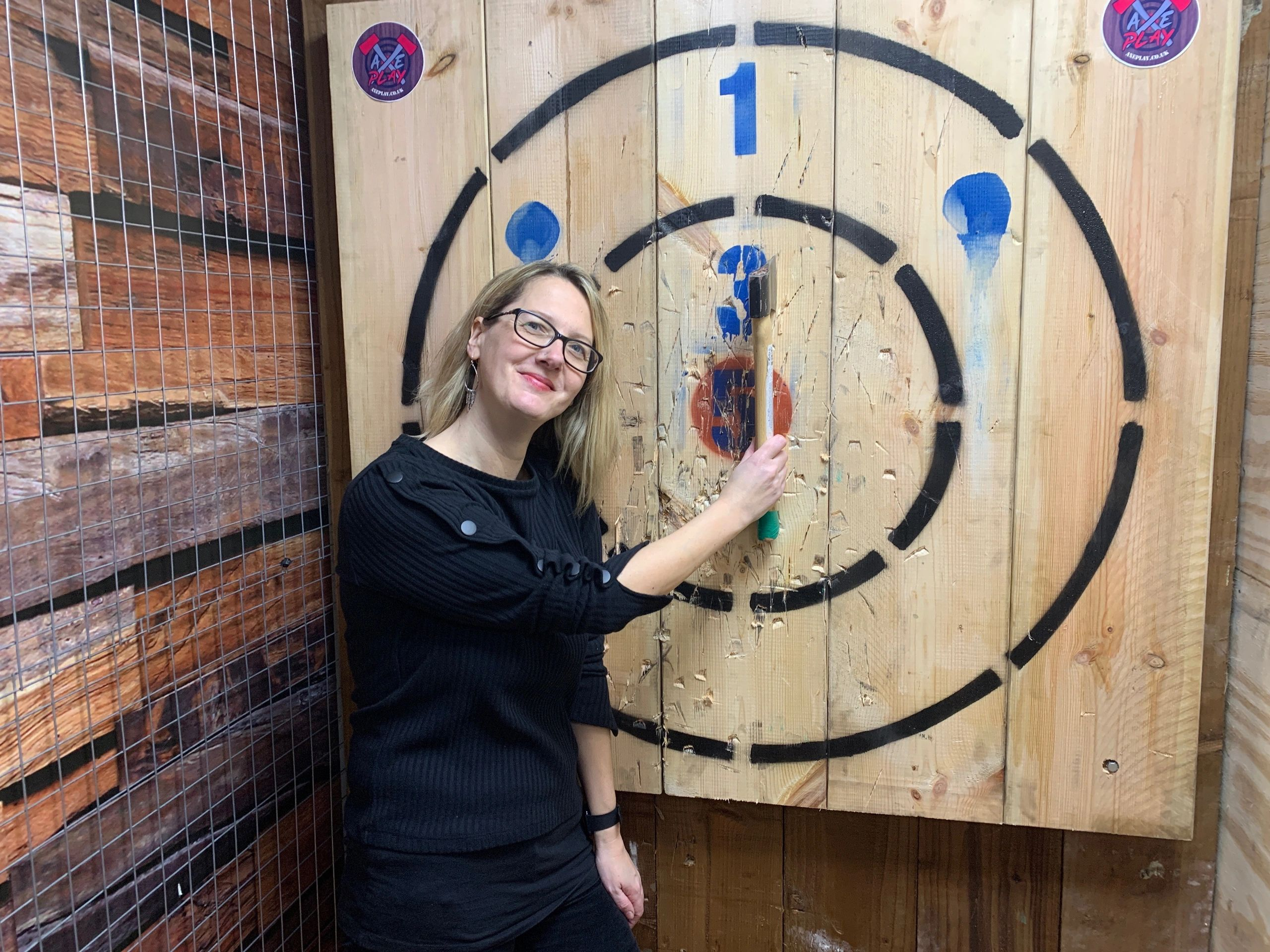Urban indoor axe throwing in Bristol @ Axe Play in Gloucester