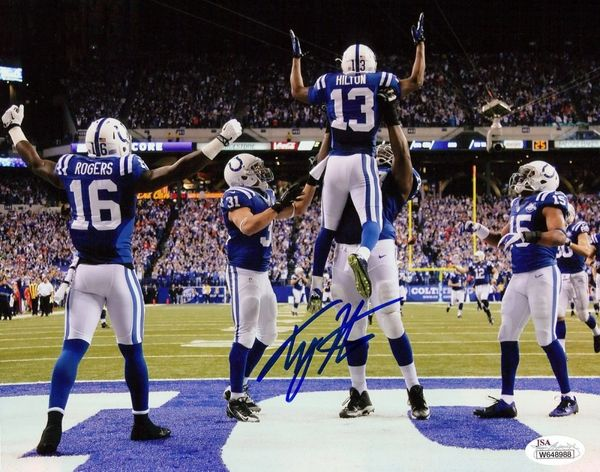 competitive price f2321 a1c88 Indianapolis Colts T.Y. Hilton Autographed 8 x 10 Photo, JSA COA