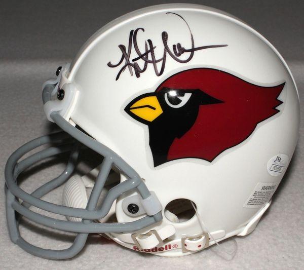 new style 0fee3 493c9 Arizona Cardinals Kurt Warner and Ken Whisenhunt Autographed Mini-Helmet,  JSA COA
