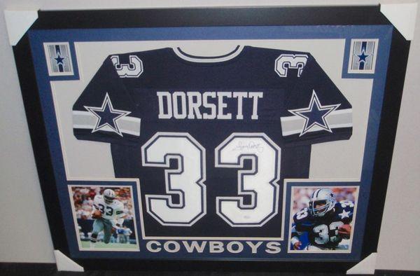 meet c5abf 78865 Dallas Cowboys Tony Dorsett Autographed Custom Framed Jersey, JSA COA